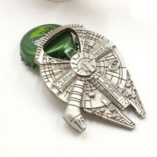 Star Wars Millennium Falcon Metal Keyring Keychain Silver Color Bottle Opener