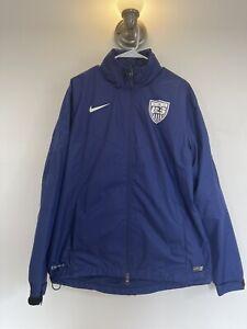 Nike Mens Large Jacket USA Soccer Olympics Storm-Fit Full Zip Hoodie Jacket