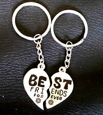 Best Friends Forever Heart Key-ring Two half heart A pair of Best Friend Charm