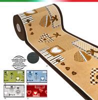 Tappeto cucina passatoia antiscivolo più colori 7 MISURE bordate mod.FAKIRO21