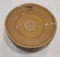 """Casafina Forum Cognac Bread & Butter Plates 6 1/4"""" Set of 6"""