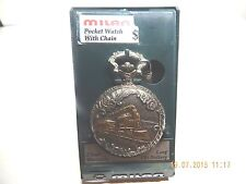 MILAN POCKET WATCH, OLD NEW STOCK IN PLASTIC DISPLAY CASE.