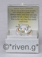 Teddy Bear@Glass ANGEL@PERSONALISED Verse@HEART of GOLD@Thank you Gift@NURSE@NEW