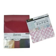 """Heritage Cardstock 8.5""""x 11"""" Printed Patterned Paper 8""""x 8"""" Scrapbooking Crafts"""