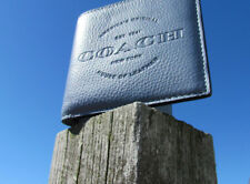NEW COACH wallet mens leather 24647 $175 dusk blue gray double billfold classic