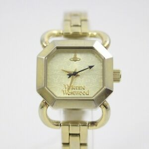 Vivienne Westwood Unisex Wristwatch Stainless Steel Silver Gold Dial g497