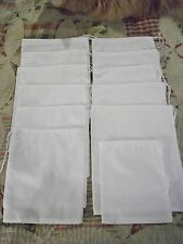 CIVIL WAR REPRODUCTION SET OF 24 ISSUE  RATION BAGS~POKE BAGS~DITTY BAGS~WHITE