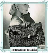 How to make a 1940s wartime chic,stylish crochet clutch handbag-Crochet Pattern