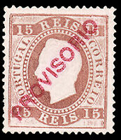 Portugal #86a MLH CV$550.00 (Perf 13 1/2 Plain Paper Regummed) King Luiz
