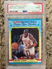 1988 Fleer Sticker Michael Jordan #7 PSA 9 MINT