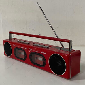 Awesome Vintage National RX-F11 Boombox Stereo System - Bright Red