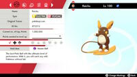 Alolan Raichu 6IV Square Shiny-Pokemon Sword and Shield-Isle of Armor-Home-DLC