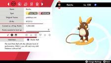 Alolan Raichu Square 6IV Shiny - Pokemon Sword and Shield [Fast Delivery]