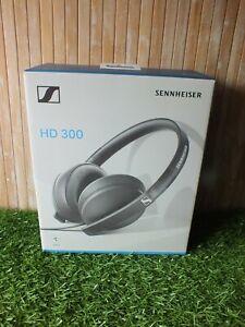 Sennheiser HD300 Lightweight Foldable Wired Headphones - Black - Opened Unused
