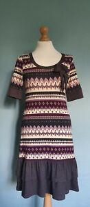 Fashion b.p.c. bonprix Collection Aztec Patterned Stretch Jersey Dress Size XS