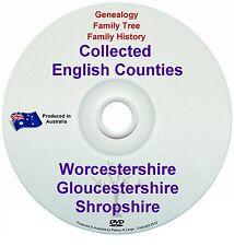 Genealogy England Worcester Shropshire Gloucester books