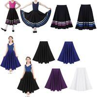 Girls Maxi Liturgical Praise Dance Full Circle Skirt Chiffon Pull-On Long Dress