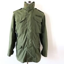 VINTAGE ORIGINAL US ARMY 1972 M-65 M65 FIELD COAT JACKET W/HOOD OG-107 SMALL LG