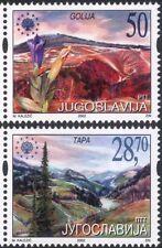 Yugoslavia 2002 National Parks/Flowers/Trees/Nature/Conservation 2v set (s189)