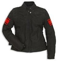 Jacke Motorrad Original DUCATI Urban Damen IN Leder Klassisch C2 Mit Schutz