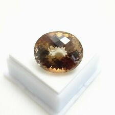Imperial Topaz Oval - 44.15ct - 18.6x22mm Checkerboard Cut Topaz Loose Gemstone