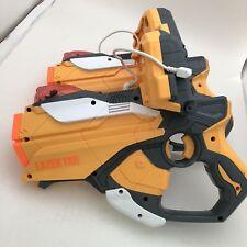 LOT OF 2 NERF HASBRO 2012 LAZER TAG GUN BLASTER IPHONE IPOD