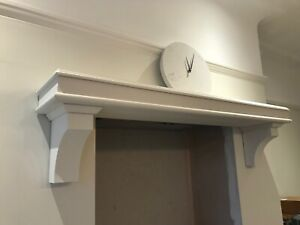 100 Cm Long Bespoke Joinery Grade Redwood Mantel Primed Ready To Paint