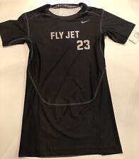Nike Pro Combat Fly #23 Jet Dri Fit Men L Large Black Fitted Shirt