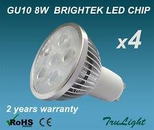 GU10 LED 4 x 8W BRIGHTEK 230V 60° Beam Angle Warm White Spotlight Downlight bulb