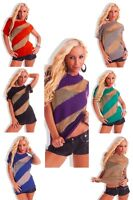 Women Clubbing Pullover Ladies Party Jumper Top UK One Size 6 8 10 12 Blouse