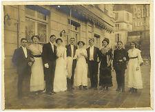 PHOTO ANCIENNE - MARIAGE GROUPE COUPLE MODE PUBLICITÉ - FASHION-Vintage Snapshot