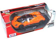 Motormax Pagani Zonda F 1:18 Diecast Orange 79159