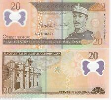 DOMINICAN REPUBLIC 20 Pesos Banknote World Currency BILL p182 Note POLYMER