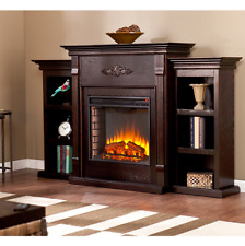 """TV Stand with Fireplace for Flat Screens Electric Wall Media Center Espresso 70"""""""