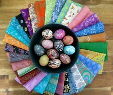 Mixed silk fabric scraps, silk offcuts for dyeing easter eggs