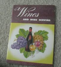 Vintage 1950s Booklet Wines and Wine Serving California Wine Advisory Board