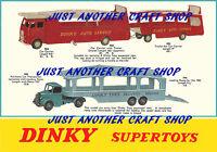 Dinky Toys 982 983 984 985 Car Transporter A4 size Poster Leaflet Sign Advert