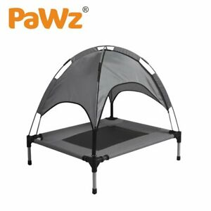 PaWz Pet Trampoline Bed Dog Cat Elevated Hammock With Canopy Raised Heavy Duty S