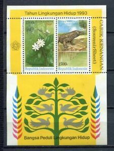 38377) Indonesia 1993 MNH Nature Conservation S/S