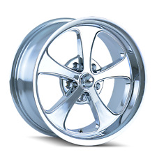 "CPP Ridler style 645 Wheels, 18x8 front + 20x10 rear, 5x4.75"", 0 offset, CHROME"