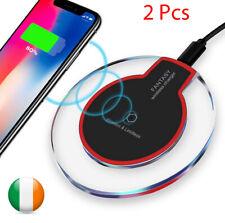 2 X Caricabatterie Senza Fili QI Carica Tampone Per IPHONE 6 7, Più Samsung S6,