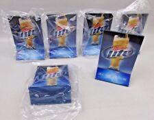 "Lot of 6  Miller Lite Beer Restaurant Cafe Table Tent Menu Holder 6"" tall NEW"