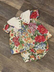 Girls Vintage Floral Bloomers