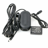 DR-E18 DC Coupler Dummy Battery AC Adapter for Canon EOS T7i 8000D SL3 Camera