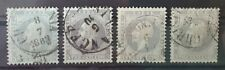 NORWAY 1856-1857 Used 3 Sk Lot of 4 Stamps I Michel #3 CV €220