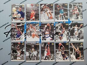 Komplettset 1992-93 Upper Deck Team MVP 1-28 Jordan, Stockton, Drexler, Ewing