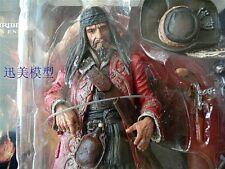 NECA Pirates of the Caribbean CAPT TEAGUE Captain Jack Sparrow Action Figure