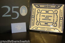 WEDGWOOD 250 ANNIVERSARY PIECE FOR QUEEN & COUNTRY SQUARE DISH PLAQUE QUEENSWARE