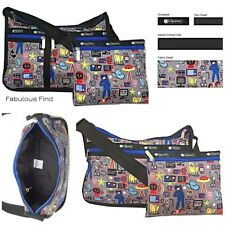 LeSportsac Buckaroo Deluxe Everyday Crossbody Bag + Cosmetic Bag Free Ship NWT