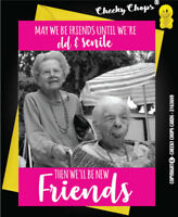 Funny friendship card, best friends, birthday, old and senile, thank you C31P